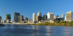 City from the Brisbane River